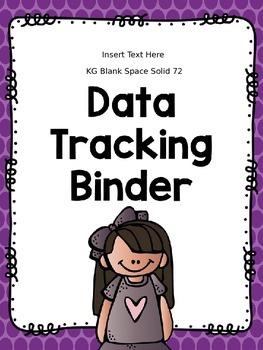 Editable Data Tracking Binder Covers