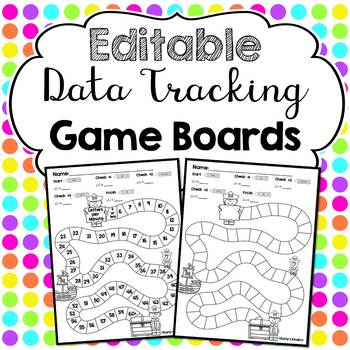 Editable Data Tracking Game Boards