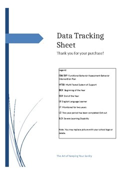 Editable Data Tracking Sheet