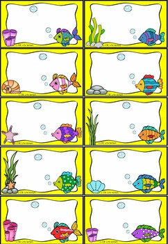 Editable Days of Week / Months of the Year Classroom Display - Under the Sea