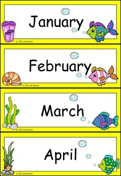 Editable Days of the Week / Months of the Year Classroom Display - Under The Sea