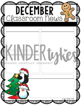 Editable December Classroom Newsletter