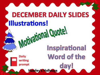 Editable December Daily Slides