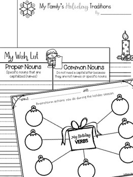 Editable December Homework Bingo Board + Printable Activities!
