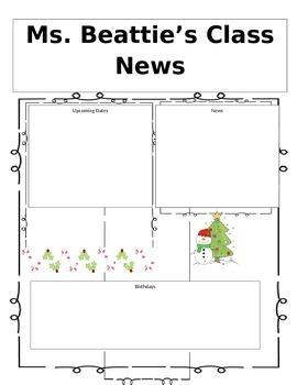 Editable December Newsletter