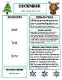 Editable December Newsletter Template for Preschool