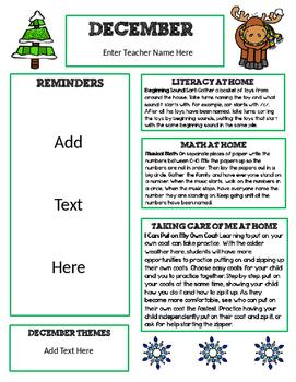 original-2888116-1 January Newsletter Template Free In Spanish on christmas family, microsoft word, preschool classroom,