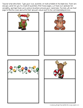 Editable December Write the Room Activity Pack
