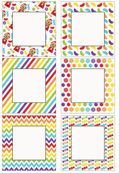 Editable Decoration Pack - Candy themed