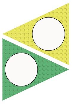 Editable Decoration Pack - Lego themed