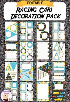 Editable Decoration Pack - Racing Cars