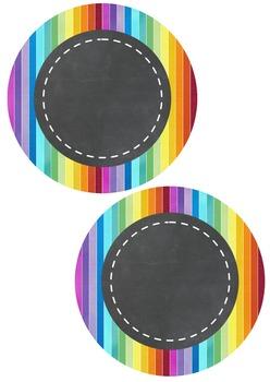 Editable Decoration Pack - Rainbow Chalkboard