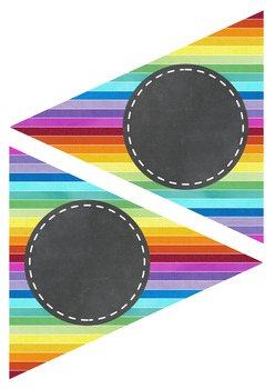 Editable Decoration Pack - Rainbow Chalkboard