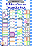 Editable Decoration Pack - Rainbow Chevron