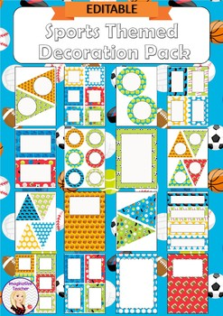 Editable Decoration Pack - Sports