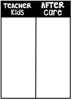 Editable Departure Chart