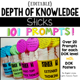 Distance Learning Editable Depth Of Knowledge Sticks & Pos