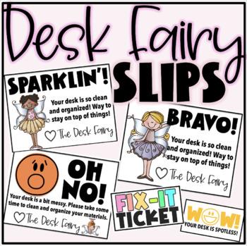 Editable Desk Fairy Slips