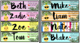 Editable Desk Labels