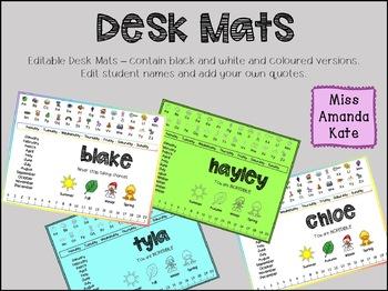 Desk Mats - Editable