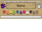 Editable Desk Name Plates
