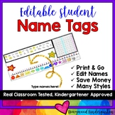 Flexible Seating or Desk Name Plates / Tags!  Editable!  A