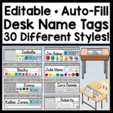 Editable Desk Name Tags {Auto-Fill 30 Names!} {Editable Na