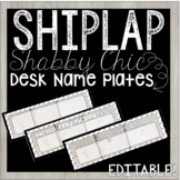 Editable Desk Name Plates / Name Tags - Shiplap Shabby Chi