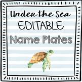 Editable Under the Sea Desk Name Plates