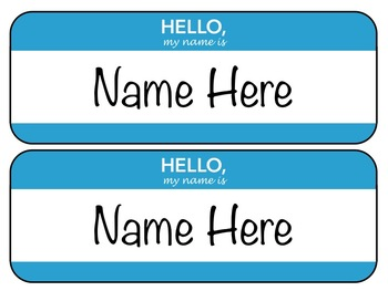 Editable Desk Name Tags