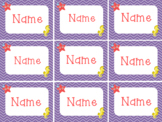 Editable Desk Name Tags Chevron Under the Sea/Ocean/Nautical/Beach Themed