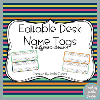 Editable Desk Name Tags/ Desk Name Plates