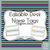 Editable Desk Name Tags/ Desk Name Plates