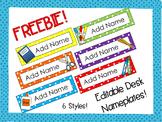 Editable Desk Nameplate {FREEBIE!}