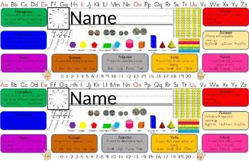 Editable Desk Plate (11x17) for Upper Elementary