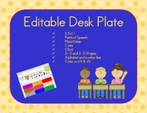 Editable Desk Plate (8.5x11 AND 11x17)