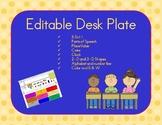 Editable Desk Plate (8.5x11 AND 11x17)