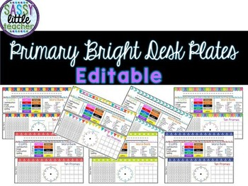 Editable Desk Plates