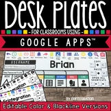 Editable Desk Plates for Classrooms Using Google Apps