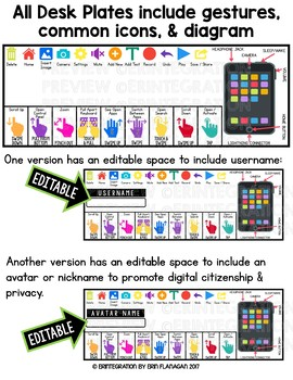 Editable Name Tags With Reference for iPad Classrooms