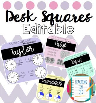 Editable Desk Squares