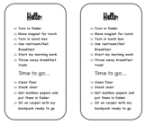 Editable Desk Tag for Morning / Pack-up Routines