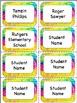 Back to School Desk Tags & Labels Set (Editable)