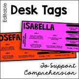 Editable Desk Tags