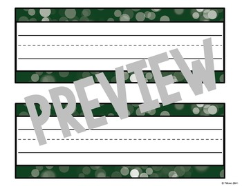 Editable Desk Tags Gorgeous Green
