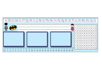 Editable Desk Tags Superhero