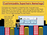Editable Desk Tags Superhero
