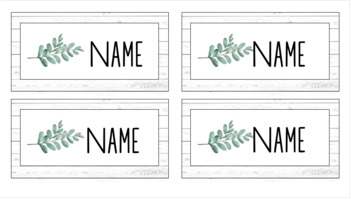 Editable Desk Top Name Plates