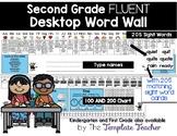 Desktop Word Wall & Math Helper Name Tag- Second Grade FLUENT words