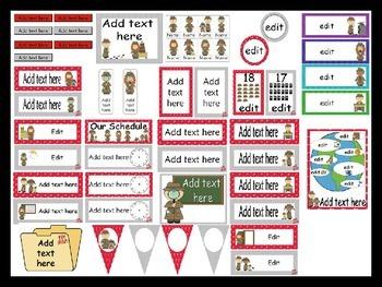 Detective Calendar Set and Classroom Decorations {Editable}